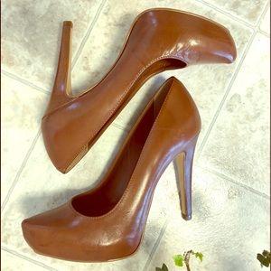 Brown leather Aldo high heels